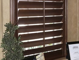 Cherry Clairmonte Wood Shutters - Stains