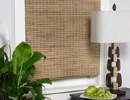 Walnut Koloa Woven Wood Shades
