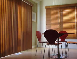 Walnut Limited Editions Flat Vane Vertical Wood Blinds