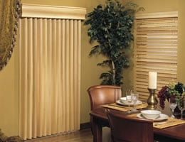 Mahogany Limited Editions S-Curve Vertical Wood Blinds