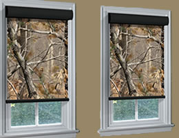 Brown Camouflage Roller Shades