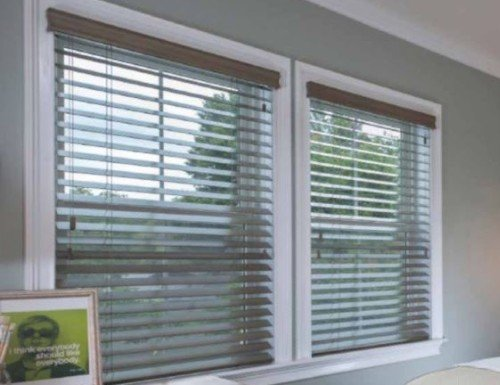Grey Platinum 2 1/2 inch Wood Blinds