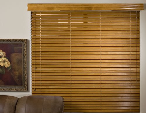 Oak Platinum 2 inch Wood Blinds