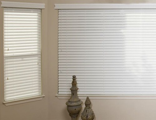 Oak Platinum 2 inch Faux Wood Blinds