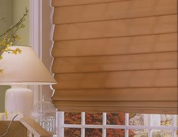 Tan Asante Blackout Roman Shades