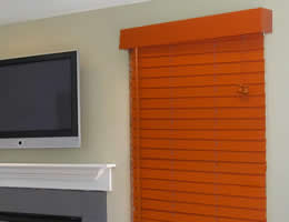 Blue Designer's Choice 2 inch Wood Blinds