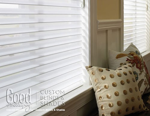 "Good Housekeeping 3"" Room Darkening Sheer Shades"