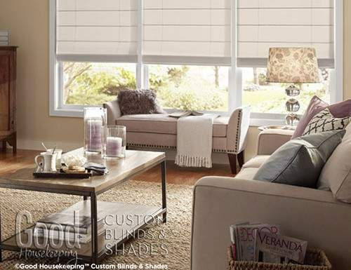 Tan Good Housekeeping Roman Shades