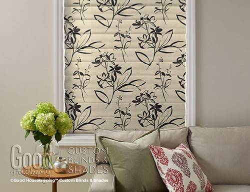 Good Housekeeping Floral Roman Shades