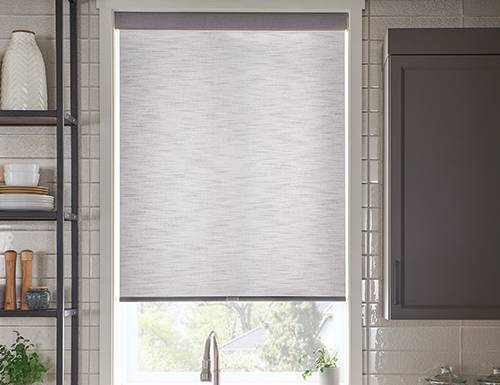 Black Good Housekeeping Light Filtering Roller Shades