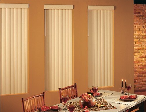 Tan Premier 3 1/2 inch Vertical Blinds