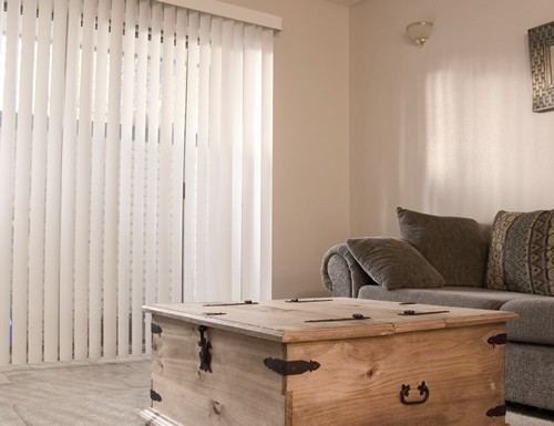 Grey Smooth PVC Vertical Blinds