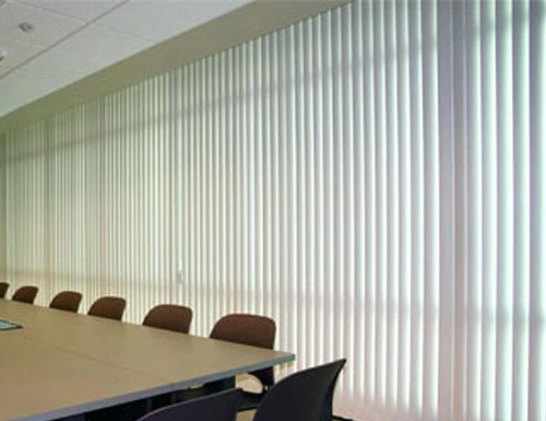White Perforated 3 1/2 inch Vertical Blinds