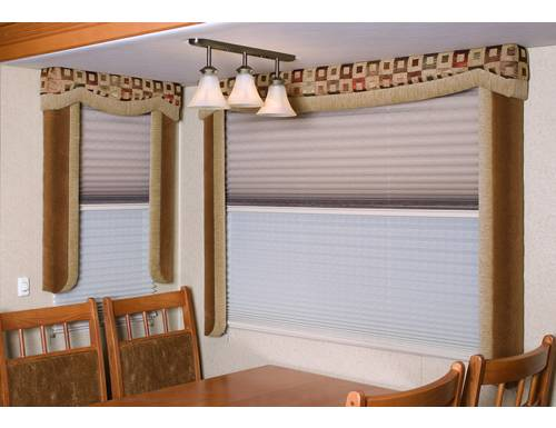Grey Day & Night RV Pleated Shades