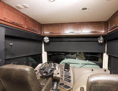 Black Blackout Vinyl RV Roller Shades