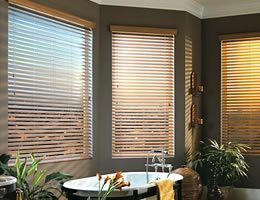 Tan Signature 2 1/2 inch Cordless Wood Blinds
