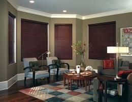 Red Premium 2 inch Cordless Basswood Blinds