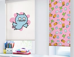 Red Uglydoll Roller Shades