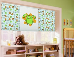 Green Uglydoll 3/4 inch Light Filtering Cellular Shades
