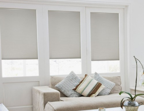 Grey Sunlera Cordless 3/8 inch Double Cell Shades