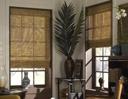 Red Honolua Woven Wood Shades