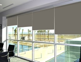 Black Room Darkening Whitney Roller Shades