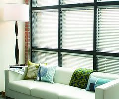 Tan Levolor 1 inch Riviera Classic Metal Blinds