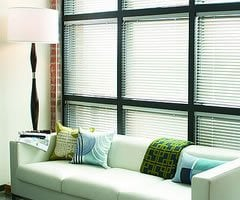 Red Levolor 1 inch Riviera Classic Metal Blinds