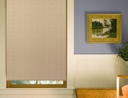 Tan John Gidding Light Filtering Roller Shades
