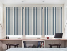 Tan John Gidding Blackout Roller Shades