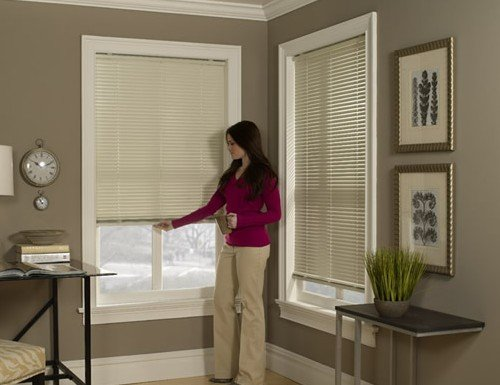 Black Elite Cordless 1 inch Mini Blinds