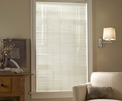 Brown Privacy 1 inch Mini Blinds