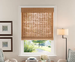 Brown Good Housekeeping Woven Wood Shades