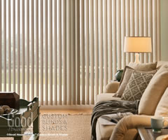 Cream Good Housekeeping Cordless Vertical Blinds