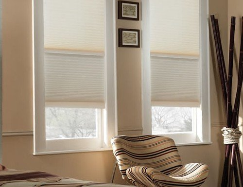 "Tan Sunlera Cordless 1/2"" Day/Night Cellular Shades"