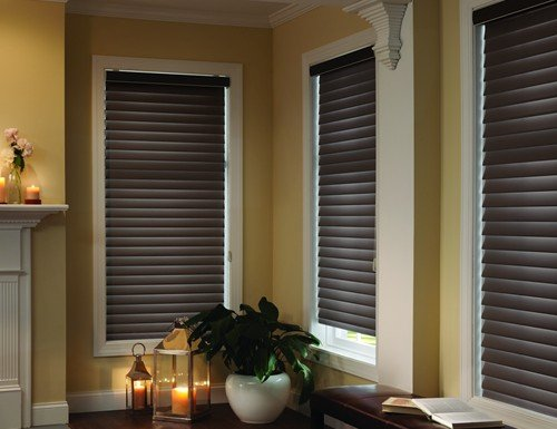 Brown Room Darkening Horizontal Sheer Shades - 3 inch Vanes