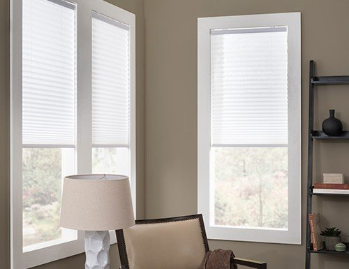 "Cordless 1"" Pleated Shades"