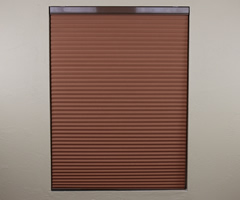 Brown Aspire 1/2 inch Blackout Single Cell Shades