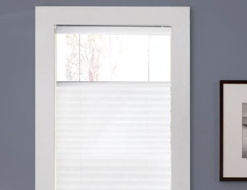 White Cordless Top Down Bottom Up Pleated Shades