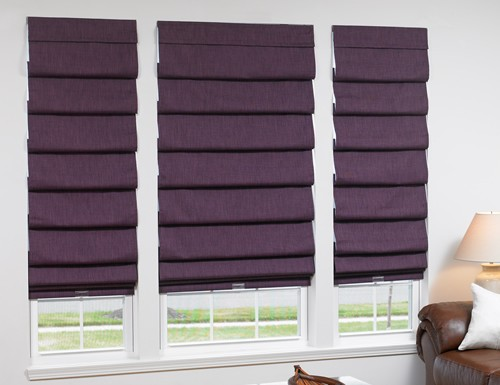Valencia Roman Shades, Blackout Roman Shades