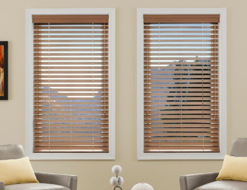 "Cherry Good Housekeeping 2"" Polymer  Plus Wood Blinds"