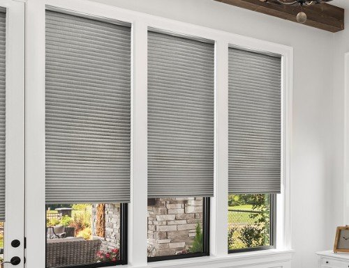 "Premier Smooth 3/4"" Light Filtering Cell Shades"