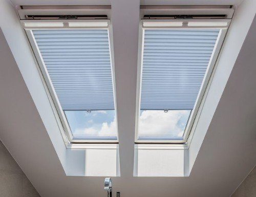 "Smooth 3/4"" Blackout Skylight Cell Shades"
