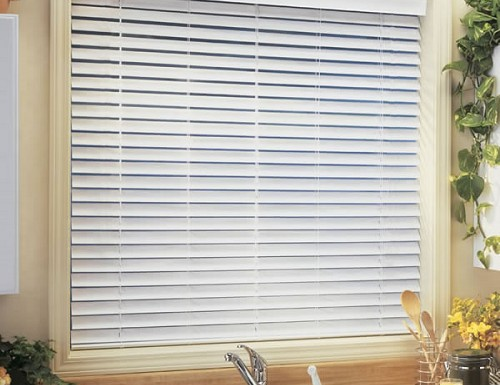 "Cordless 2"" Faux Wood Blinds"