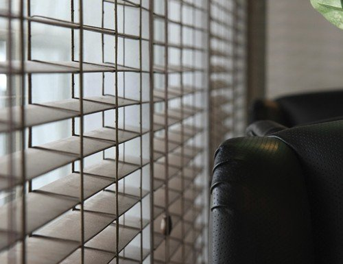 Tan Cordless 2 inch Wood Blinds