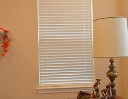 Tan Regal 2 inch Faux Wood Blinds