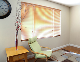 Oak Regal 2 inch Basswood Blinds