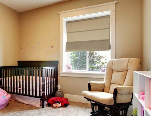 Cordless Magnetic Roman Shades