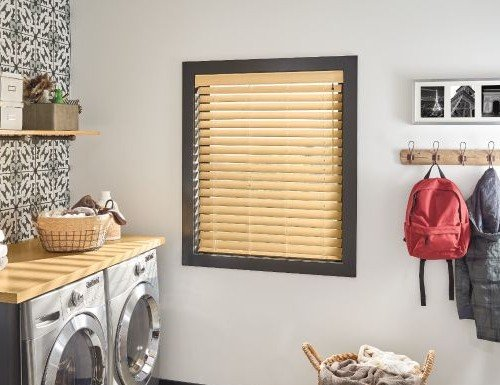 "Tan Bali 2"" Faux Wood Blinds"