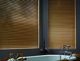 Black Modern Designer 2 inch Faux Wood Blinds